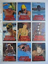 1996 INTREPID PRIDE OF THE NATION *RECORD BREAKERS* 9 CARD FOIL CHASE SET