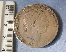 george iii 1819 crown silver antique vintage retro