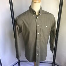 Orvis Mens Large Button Front Oxford Shirt Glen Plaid Classic Nice And Crisp B6