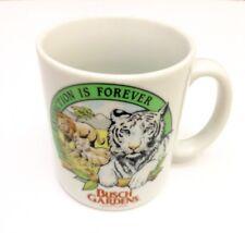 Busch Gardens Extinction Is Forever Lion Tiger Endangered Species Coffee Cup Mug