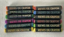 12 x Unboxed Reeves Oil Crayons Art Artist Supplies