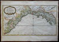Genoa Coast Italy Italia Albinga Porto Venere Savona 1760 Bellin map