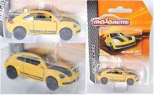 MAJORETTE 212084009 VW Beetle GSR jaune/noir GSR NR 16/18 Racing Cars