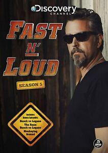 FAST N' LOUD SEASON 5 - 5 DVD SET BRAND NEW SEALED BUSCH V LOGANO SERIES