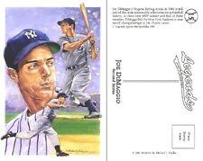 1991 Legends Postcard Joe DiMaggio - New York Yankees - NEAR MINT