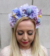 Purple Lilac Pink Rose Flower Headband Garland Hair Crown Bridesmaid Boho 5363