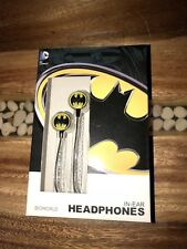 NEW Bioworld DC Comics Batman Symbol In Ear Headphones W/ Wired -For Iphone