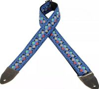 "Levy's Garment Leather Backed Jacquard Hootenanny Guitar Strap 2"" M8HTV-16"
