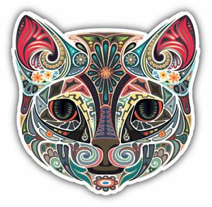 """Cat Head Car Bumper Sticker Decal """"SIZES"""""""