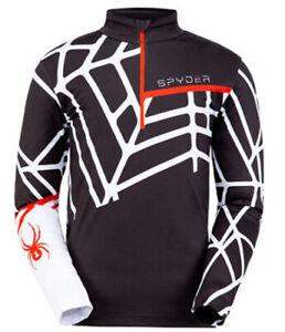 Spyder Men's Vital Half Zip T-Neck Shirt Baselayer Top Sweater, Size S, NWT