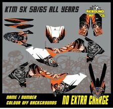 KTM SX 50 65 Motocross Graphics Kit Decals Stickers MX All Years