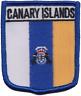España Canario Islas Bandera Escudo Parche Bordado Insignia
