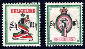 HELGOLAND 1879 19-20 * gute SHILLINGWERTE (S6432