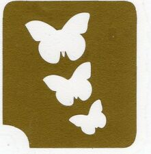 GT170 Body Art Temporary Glitter Tattoo Stencil  Butterflies Butterfly