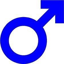 Macho símbolo Logo Sticker Etiqueta de vinilo gráfico Etiqueta Azul