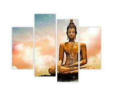"EXTRA LARGE CANVAS PRINTS BUDDHA MEDITATING CLOUDS 4 PANEL 35""(90cm) XXL PHOTO"