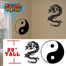 Dragon wall stickers,Yin yang Chinese Martial Arts decal symbol, dragon sticker
