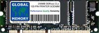 256MB DDR 100-PIN SODIMM RAM FOR PRINTERS (13N1524 , A0743432 , Q2627A , Q7719A)