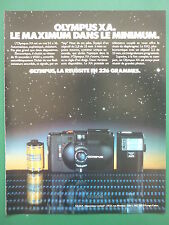 12/1980 PUB APPAREIL PHOTO OLYMPUS XA 24 X 36 CAMERA ORIGINAL FRENCH AD