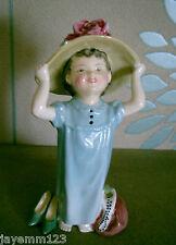 Royal doulton figure little girl make believe modèle no. hn 2225 parfait