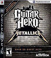 Guitar Hero Metallica Playstation 3 Ps3 Game T-kids Music/karaoke Band