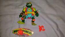 1990 Teenage Mutant Ninja Turtles Mike the Sewer Surfer  action figure complete