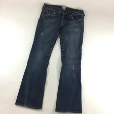 True Religion Size 27 Joey Jeans Flap Pocket Twisted Flare Leg Distressed