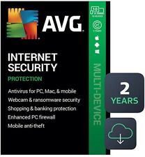 AVG INTERNET SECURITY 2020 -10 DEVICE- 2 YEARS -GENUINE CODE