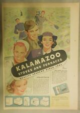 "Kalamazoo Stoves and Furnaces Ad: ""Quality Leaders Since 1901"" from 1944"