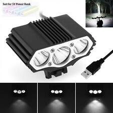 SolarStorm 15000LM 3 x CREE XM-L T6 LED 4-Mode Bicycle Headlamp USB Bike Light