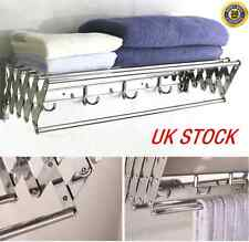 Wall Mounted Stainless Steel Folding Clothes Rack Bathroom Towel Drying Rack