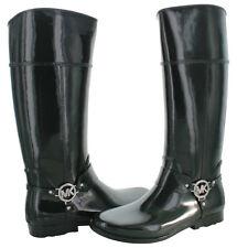 Michael Kors Black Rubber Fulton Harness Rain Boots Women's Size 10 NO BOX