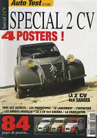 Auto Test - N°4 - 2006 -  Spécial 2 CH  - La 2 CH 4X4 SAHARA - Tintin et la 2CH