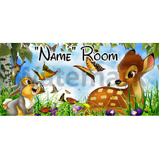 Disney Bambi Personalised Bedroom Door Sign – Any Text/Name