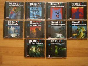 10 x Die drei ??? Fragezeichen, 10 Folgen auf 10 CD, Sehr guter Zustand!