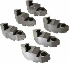 Bison Lathe Chuck Hard Top Jaw for Scroll 10 in 6-Jaw 6 Piece Set 7-883-610