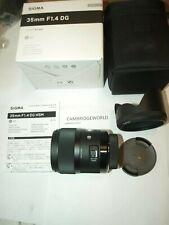 SIGMA 35mm F1.4 ART DG HSM PRIME LENS f/ SIGMA CAMERA NEW in FACTORY BOX & CASE