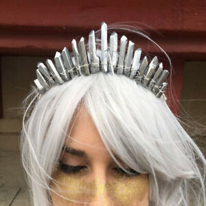 New Natural Quartz Crystal Exquisite Tiara Moon Headband Mermaid Hair Hoop Party