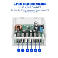 5.3V 8A 6-Port USB HUB Phone Car Charger Fast Smart Charging Station Adapter