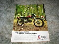 1971 HARLEY DAVIDSON ENDURO Cycle Ad  ( Thumper )  SX350 SPRINT