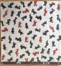 12x12 Character Vellum Disney Mickey Minnie Mouse Goofy Donald Duck 4 Sheets