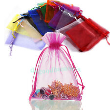 100pc Sheer Organza Candy Gift Bag Jewelry Drawstring Storage Bags Pouch 10x15cm
