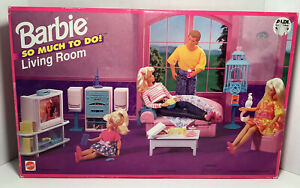 SO MUCH TO DO LIVING ROOM BARBIE DOLL FURNITURE SET 1995 MATTEL 67159 SEALED NEW