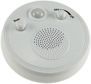 Wand- & Deckenradio mit 360° PIR Bewegungsmelder Badradio Batteriebetrieb Ø 95mm