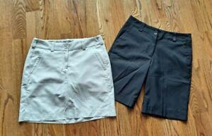Nike Golf Tour Performance Skirt/Skort/Shorts Women's Size 4 (Lot of 2)