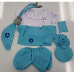 """Teddy Bear DOCTOR """"SCRUBS"""" Costume CLOTHES Fit 14""""-18"""" Build-a-bear !NEW! FREE S"""