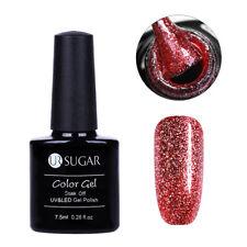 7.5ml Soak Off Nail Art UV Gel Polish Glitter Platinum Luxury Shining UR SUGAR