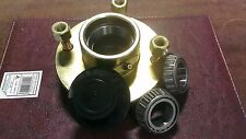 "Cast Trailer Hub and Taper Bearings (1"") 4 Stud, 4"" PCD inc nuts & dust cap"