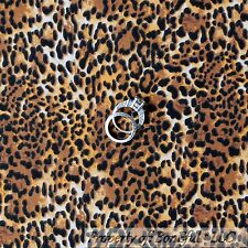BonEful Fabric FQ Cotton Quilt Brown Black Tan Skin Wild Leopard Cheetah African