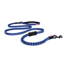 "New EZYDOG ZeroShock Lite Leash Shock Absorbing Padded Handle 6' (72"") Blue"